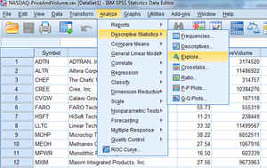 how to find mean median and mode in spss